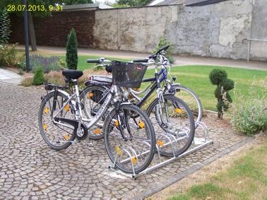 Fahrradständer gut angenommen